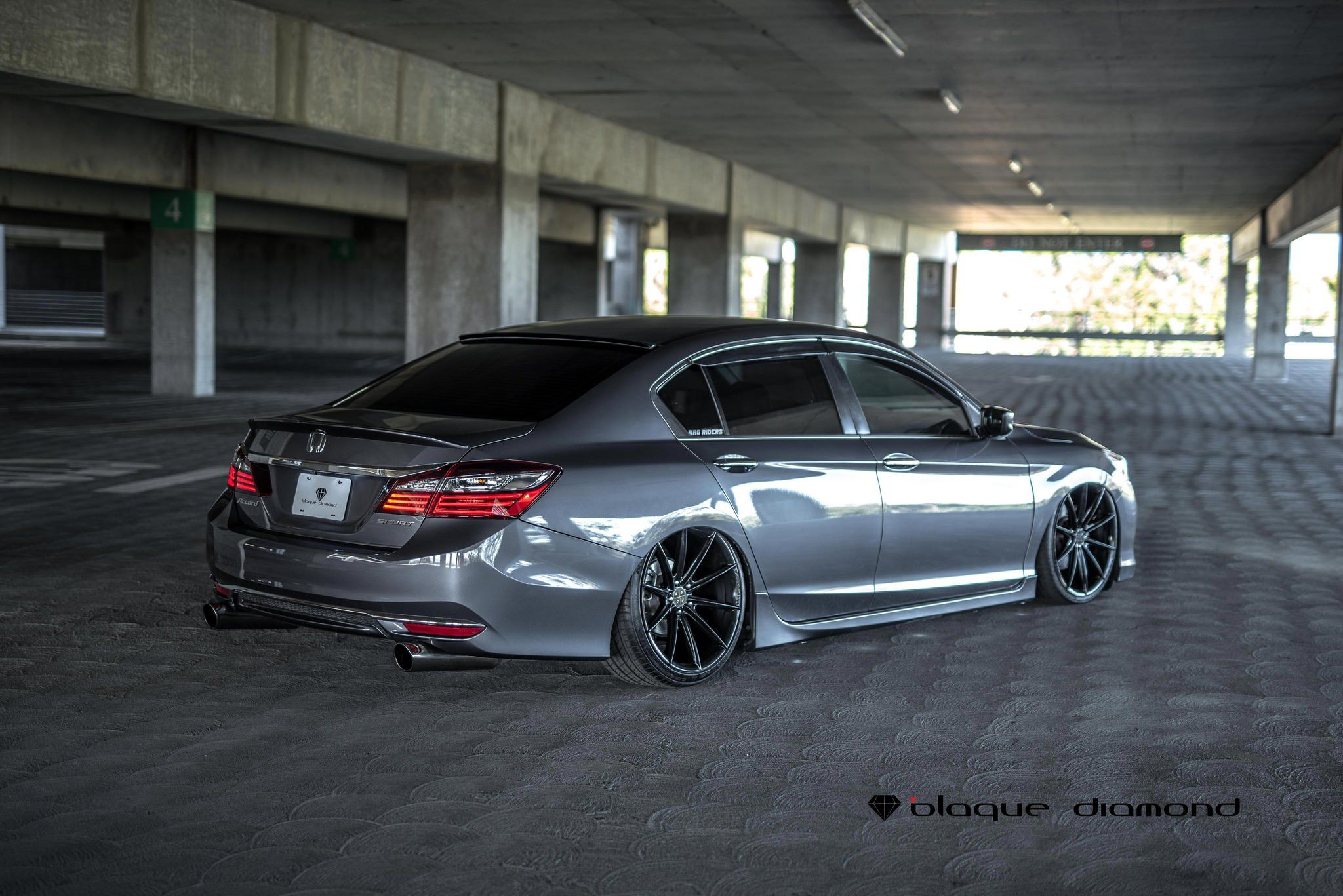 Stanced Honda Accord With Air Suspension and Black Diamond