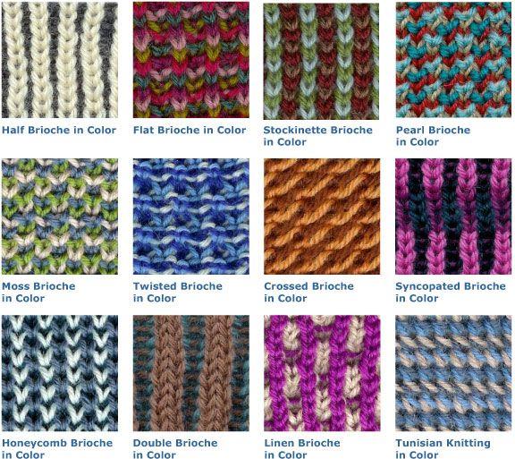 Tutorials Brioche Stitch Variation Color Knit Brioche