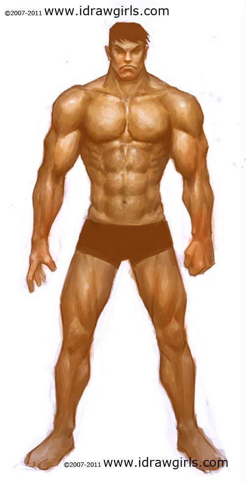 How to draw human, paint male muscle | ✍Tutorials | Pinterest ...