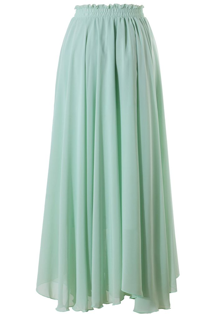 Light Green Long Maxi Skirt - New Arrivals - Retro, Indie and ...