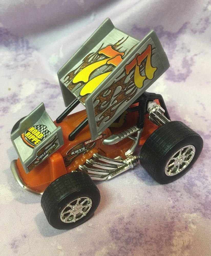 Road Rippers Race Car Monster Truck Toy State w/Rider Orange