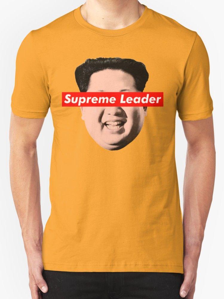 e4d1e01a0 Supreme Leader Un - Kim Jong Un Parody T-Shirt by William Harris 'Supreme