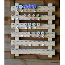 pr/ésentoir mural pour 60 bobines et 60 canettes