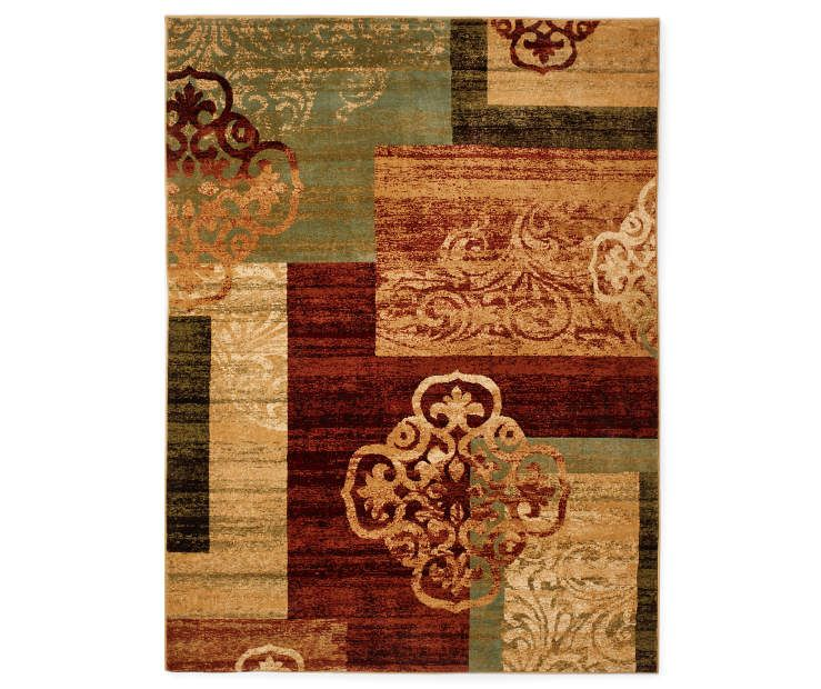 Living Colors Multi Color Medallion Block Rugs Big Lots Area Rugs Rugs Block Area