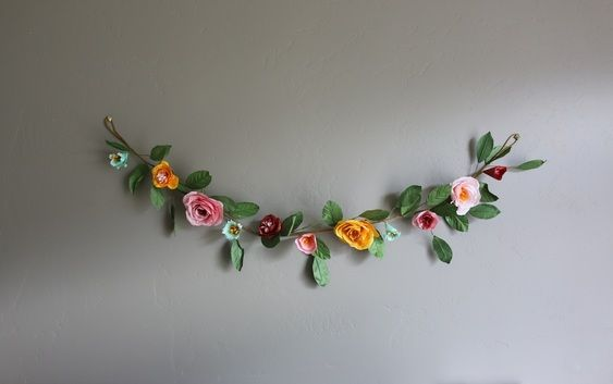 Paper flower garland decorations paper flower garland fj wedding paper flower garland decorations paper flower garland mightylinksfo Choice Image