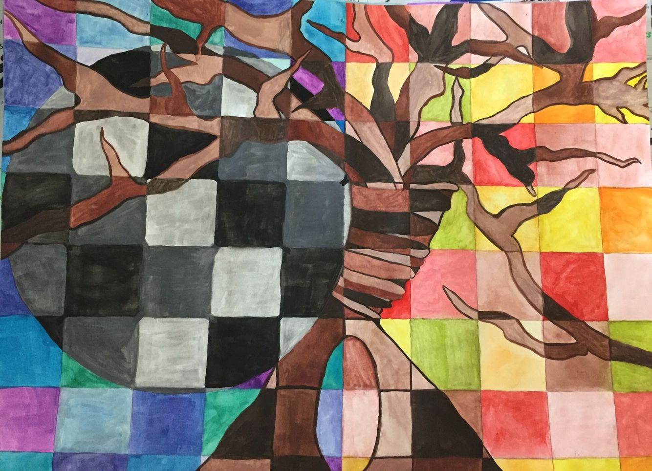 Art I color scheme painting projects .. High school art. Ms ...