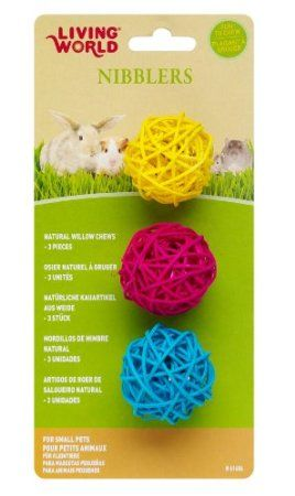 Amazon Com Lw Nibblers Willow Chews Balls Pet Supplies Small Pets Dog Toy Ball Pet Toys