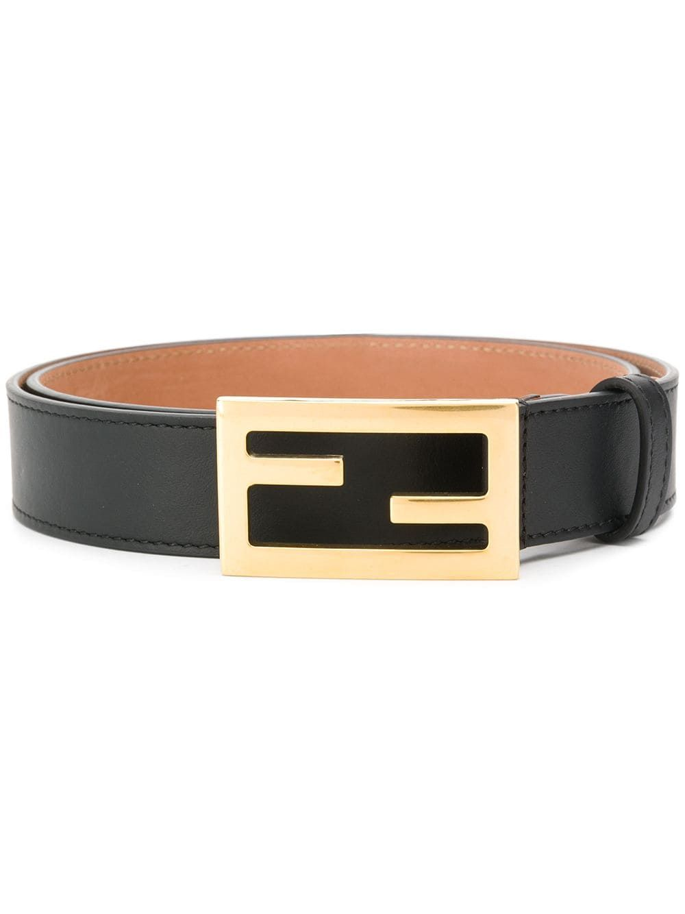 Designer Genuine Leather Runway Wide Belt with Signature Gold  Tone Buckle