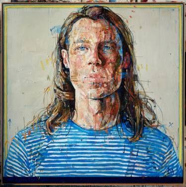 "Saatchi Art Artist Andrew Salgado; Painting, ""Hamburg's Stripes"" #art"