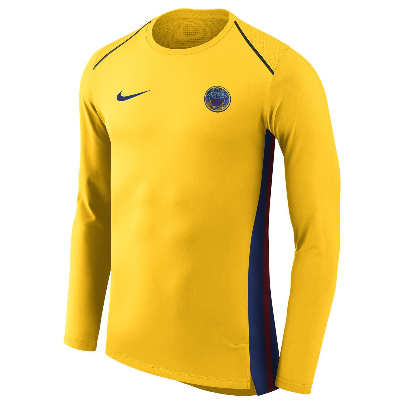 d3c1ab69f Golden State Warriors Nike Men s Chinese Heritage City Edition Hyper Elite  Long Sleeve Top - Gold