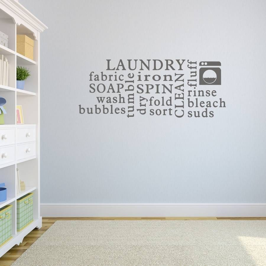 Laundry Sayings For Walls Laundry Word Cloud Wall Sticker  Word Clouds Wall Sticker And