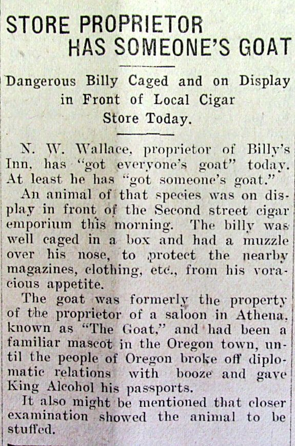 100 Years Ago From The Pages Of The Walla Walla Daily Bulletin