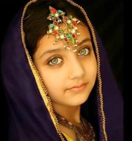 Visage Afghan Fille Afghane Visage Couleur Yeux