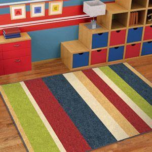 Orian Simple Stripe Fun Kids Area Rug