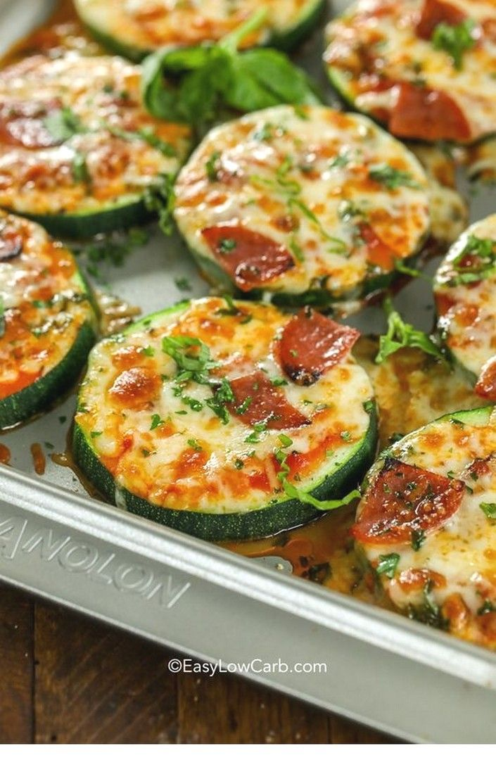 Photo of Keto-Rezepte | Zucchini Pizza Bites