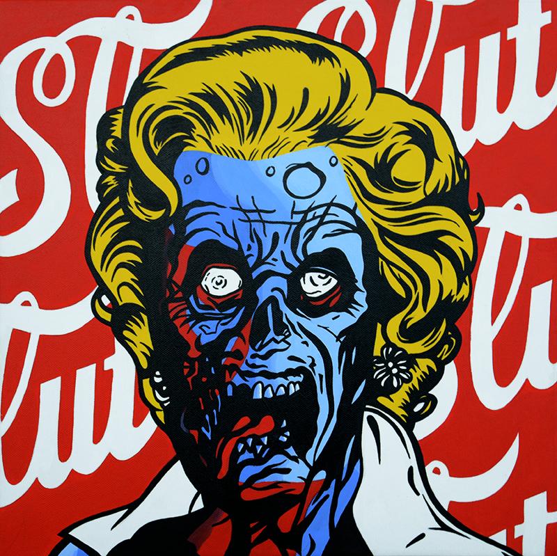 Comic Pop Art Marilyn Monroe Zombie Pop art zombie, Pop