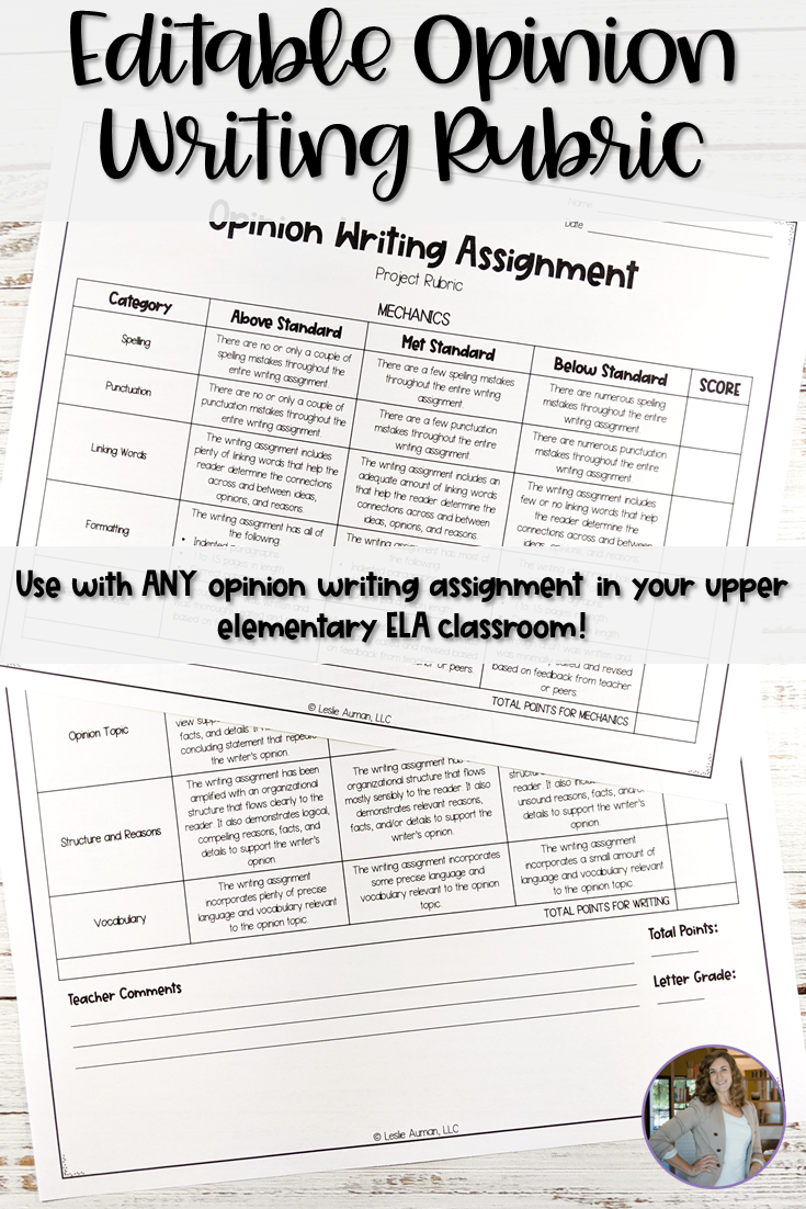 Editable Opinion Writing Rubric For Upper Elementary In 2021 Opinion Writing Rubric Writing Rubric Opinion Writing [ 1102 x 735 Pixel ]
