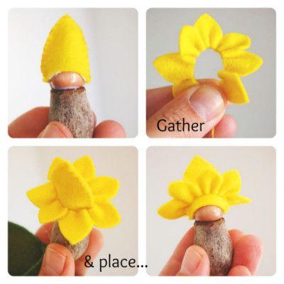 19. Craft with felt: Felt leaf & Gumnut Baby | Parenting Fun Every DayParenting Fun Every Day #dollhats