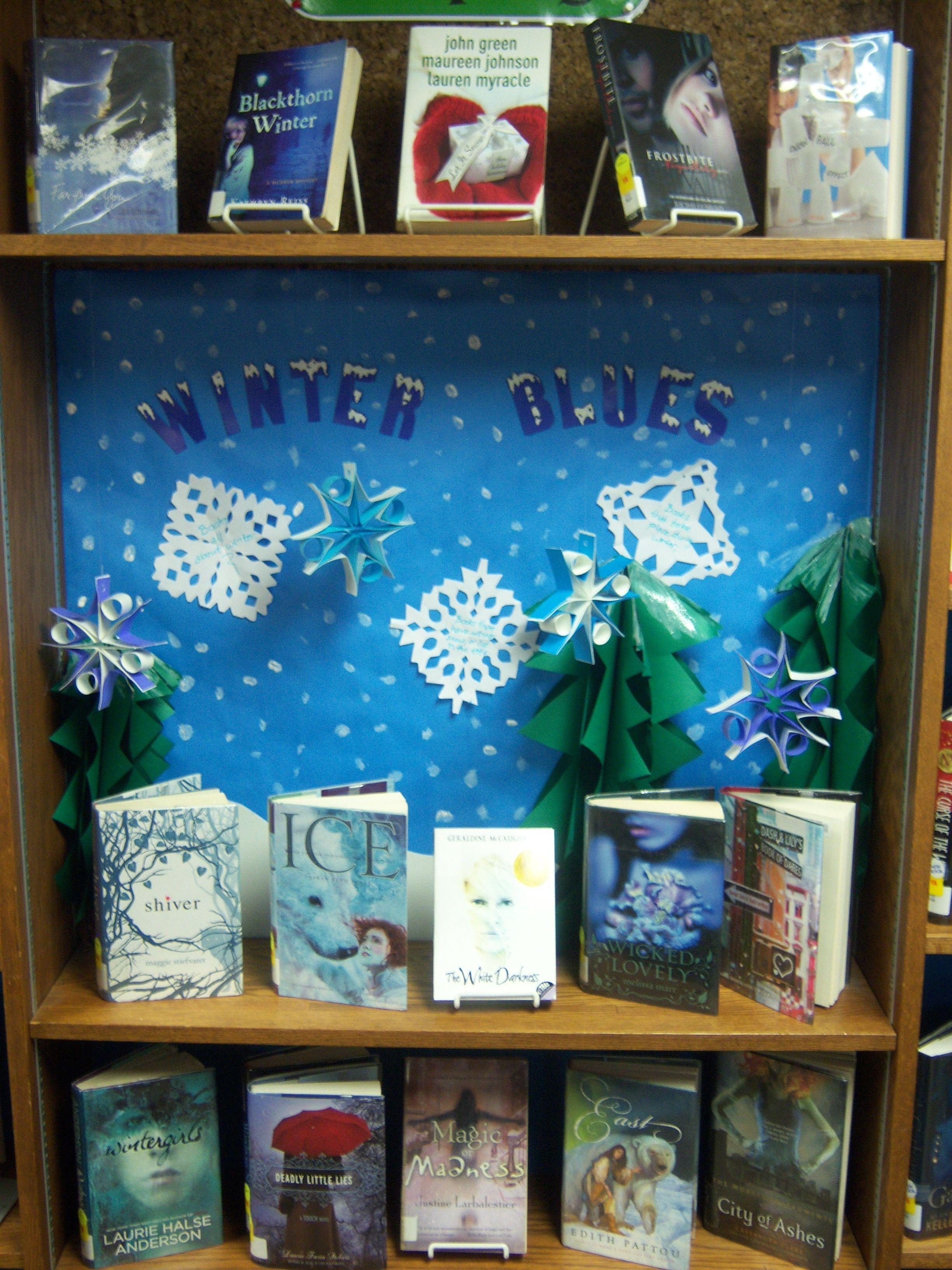 Winter Blues  Teen Book Display