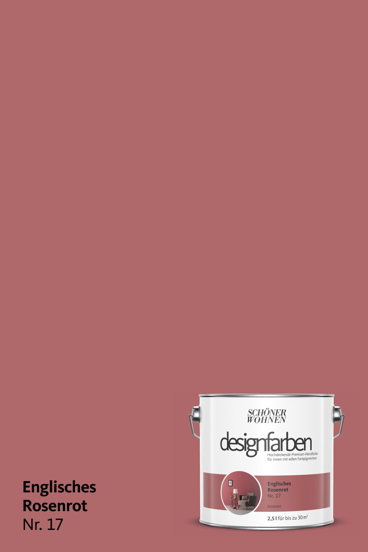 Designfarbe Englisches Rosenrot Nr 17 Schoner Wohnen Farbe Schoner Wohnen Farben