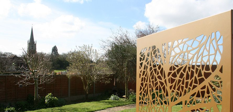 Gold Leaf Garden Screen In Uk