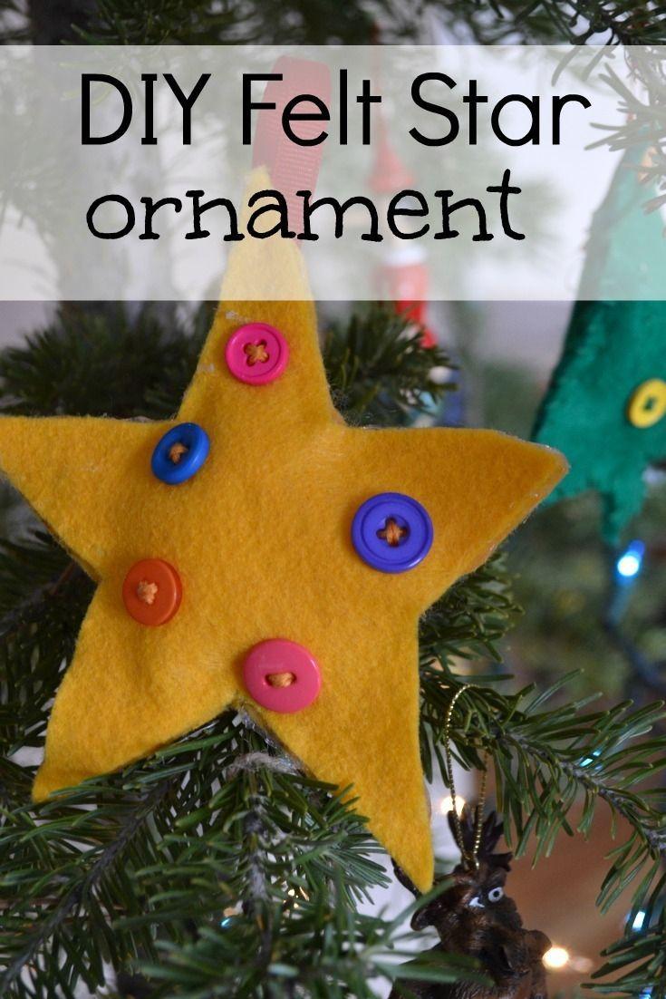 This easy diy felt star ornament will make you feel crafty basic