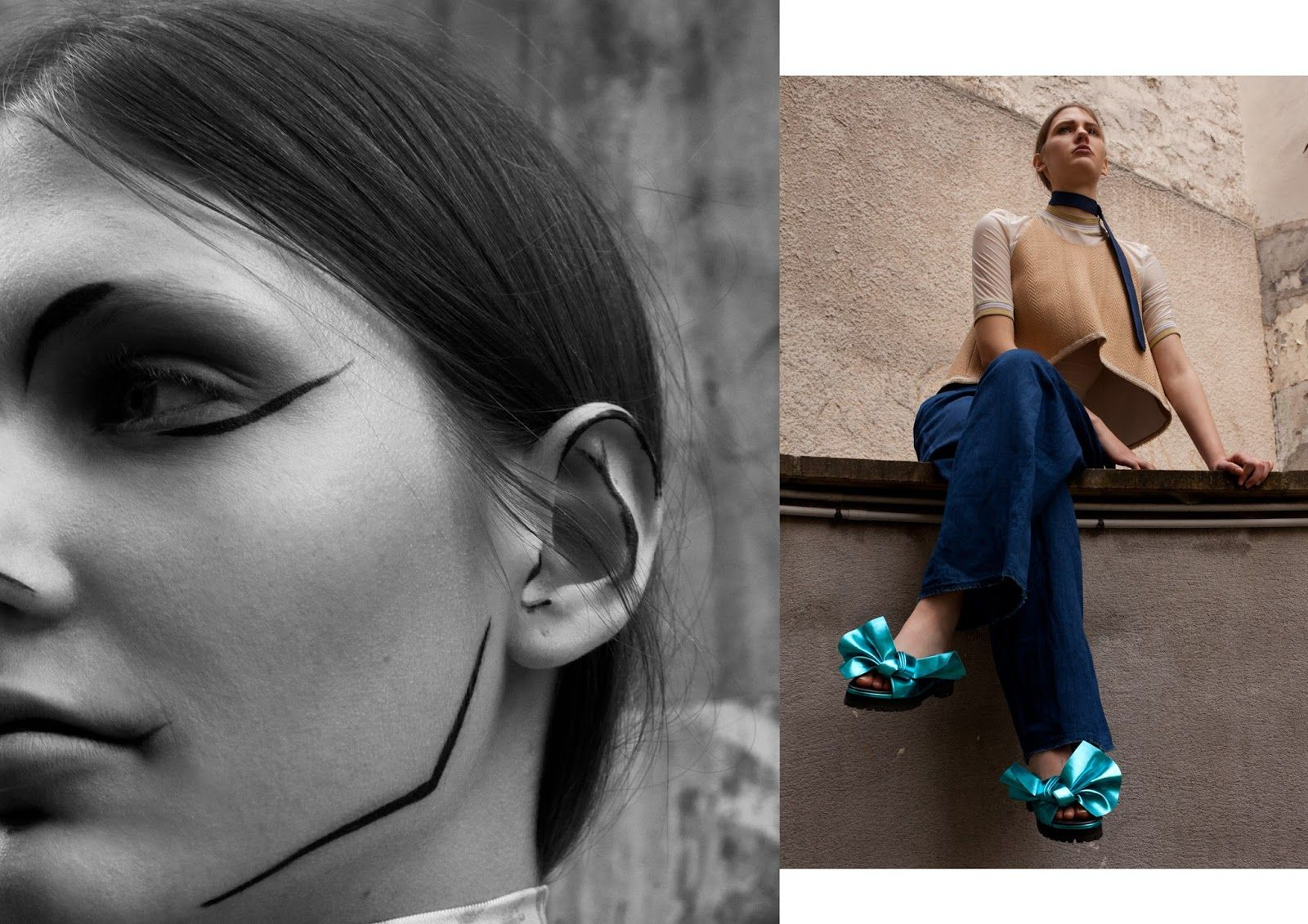 pina: celine coureau and sophie schleidweiler by niclas heikkinen for grit magazine! | visual optimism; fashion editorials, shows, campaigns & more!