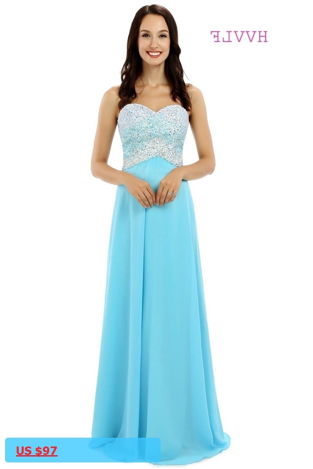 Luxurious evening dresses aline sweetheart chiffon beaded sky