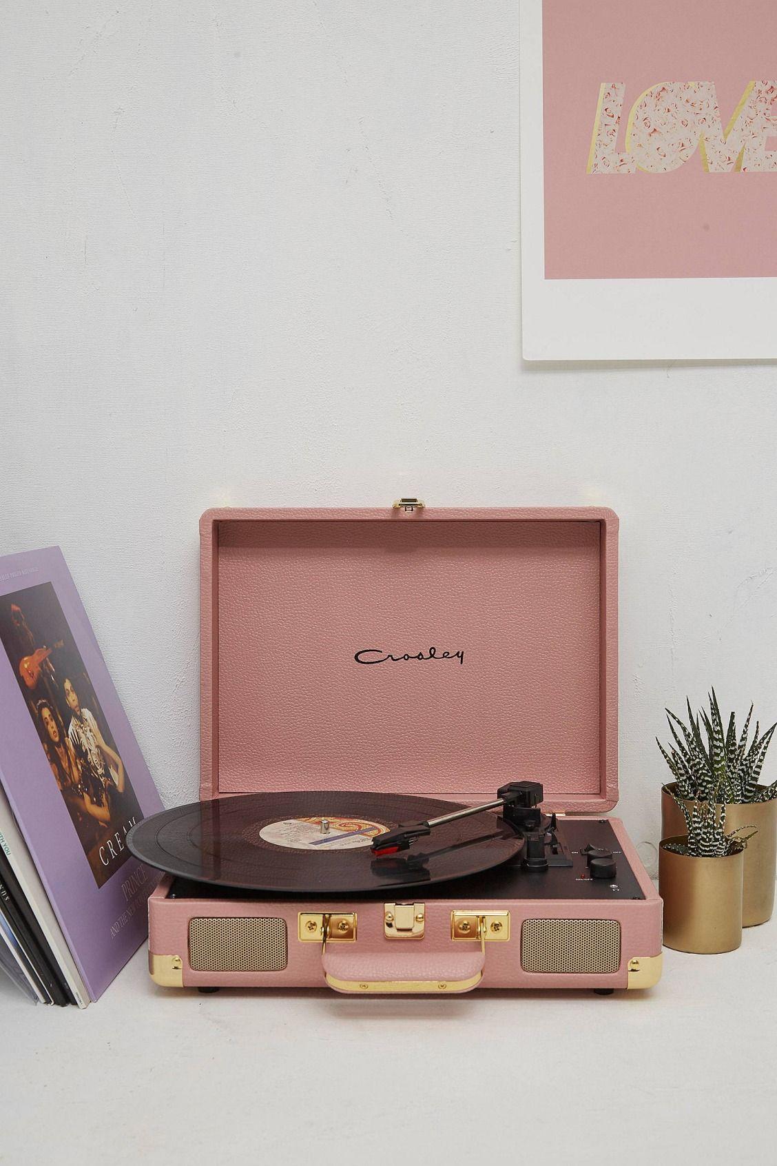 Crosley Cruiser Pebbled Pink Vinyl