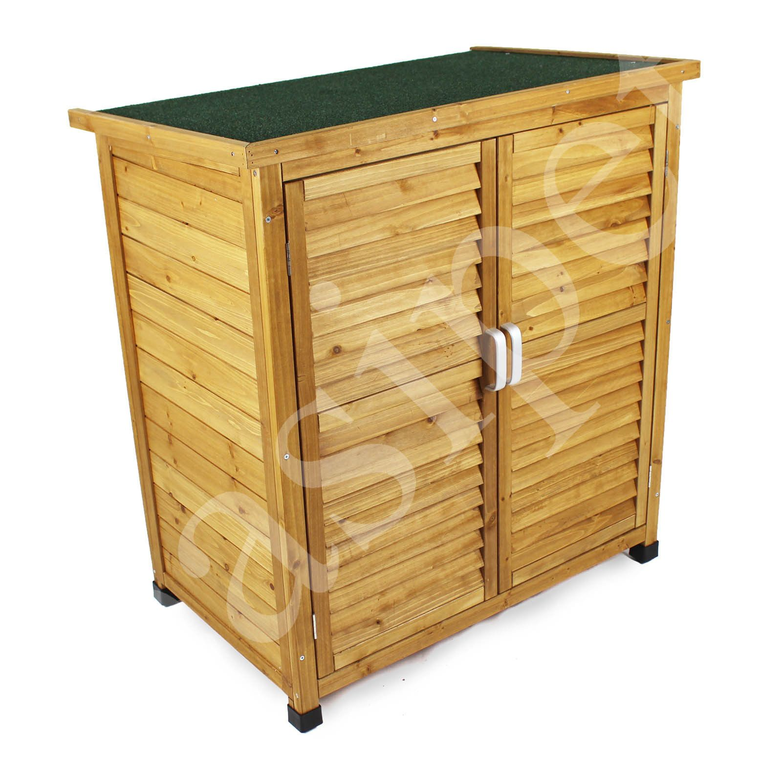 Wood Garden Shed Tool Storage Lawn Mower Outdoor Wooden