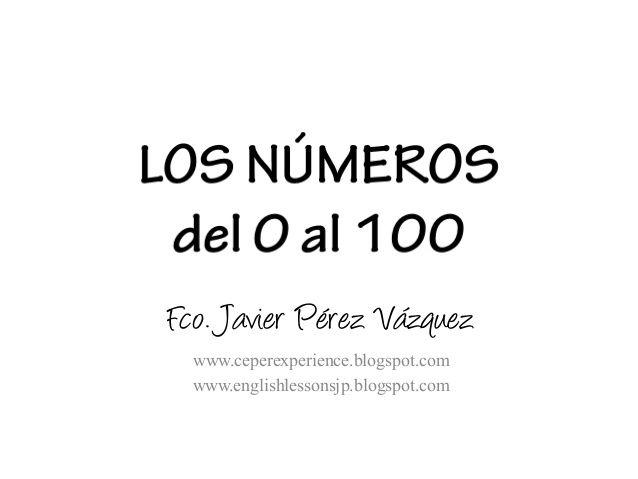 Los números (1 a 100) presentación