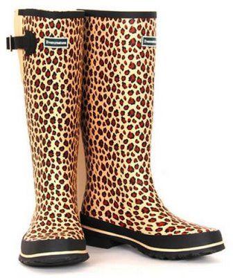 3e21a314c0e6 leopard rain boots | Fashionista Fall Winter in 2019 | Boots ...