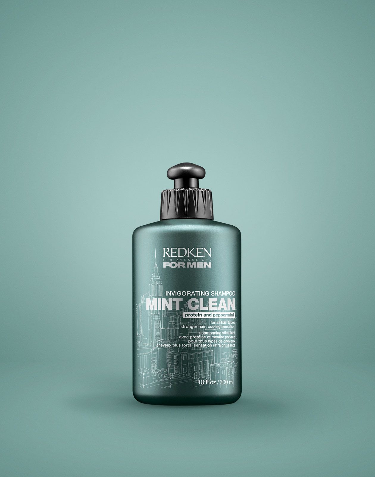 Redken for Men Mint Clean Invigorating Shampoo helps hair
