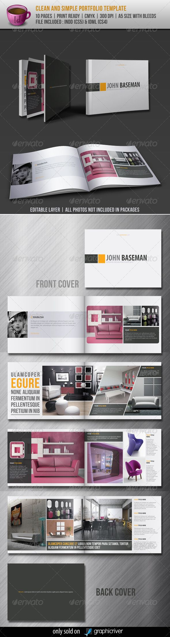 Clean And Simple Portfolio Template - GraphicRiver Item for Sale