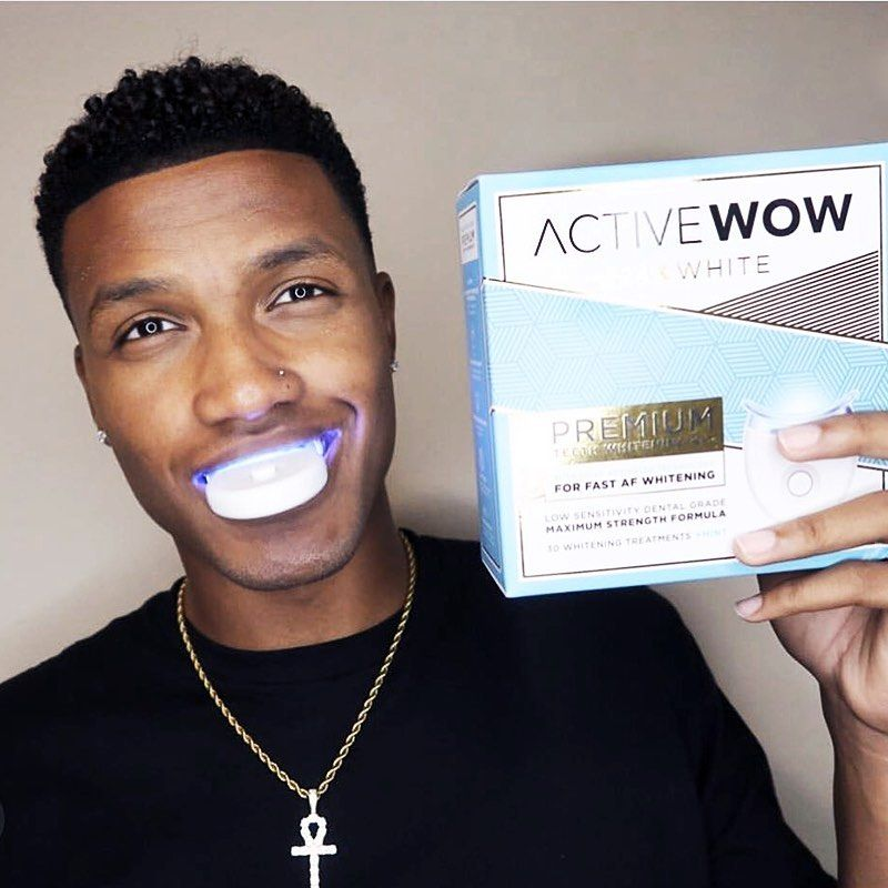 Your 10 min hack to a whiter smile. Tap to add #ActiveWow to your daily routine! . . . . . #activewow #realsmiles #lifehack #wow #wowfactor #shopnow #teethwhitening #teethwhiteninghacks #whiteteeth #whitesmile #LEDkit #routine #beautyroutine #essentials #oralcare