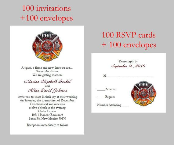 100 Personalized Custom FireFighter Fire Department Bridal Shower