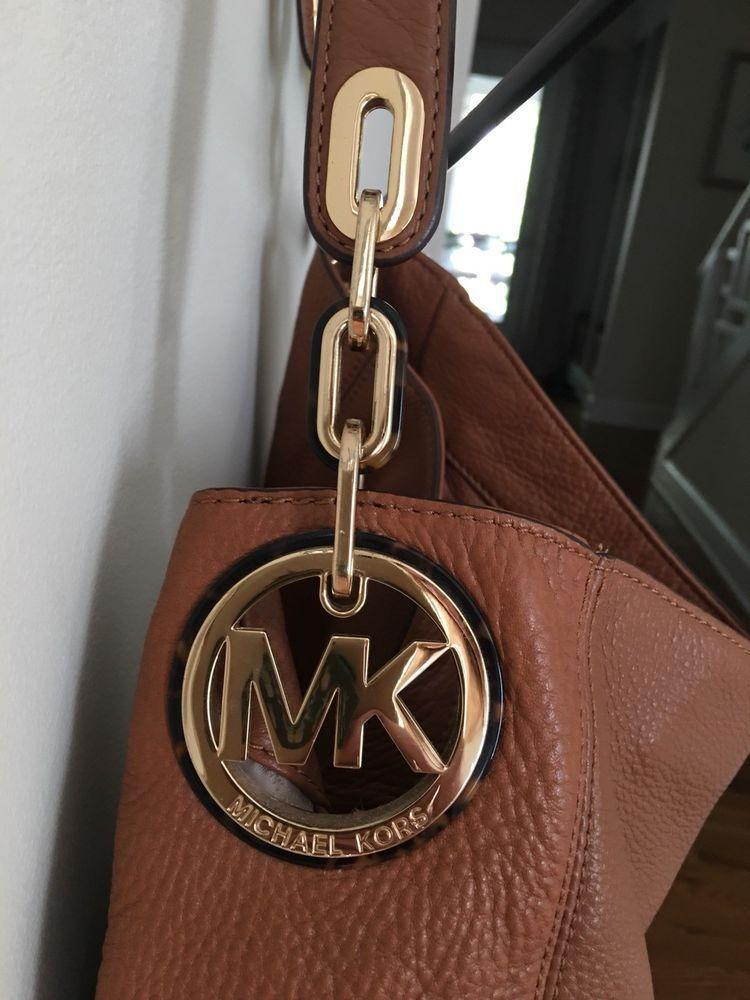 7390109f4f43 Michael Kors LARGE Fulton ACORN Brown Leather Hobo Satchel Shoulder Bag  #fashion #clothing #shoes #accessories #womensbagshandbags (ebay link)