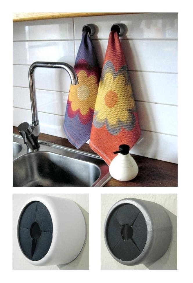 Self Adhesive Smart Hanger For Dish Cloths And Towels By Ekelund