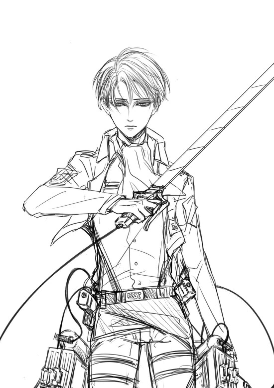 Great sketch/art Levi SNK Attack on titan levi, Levi