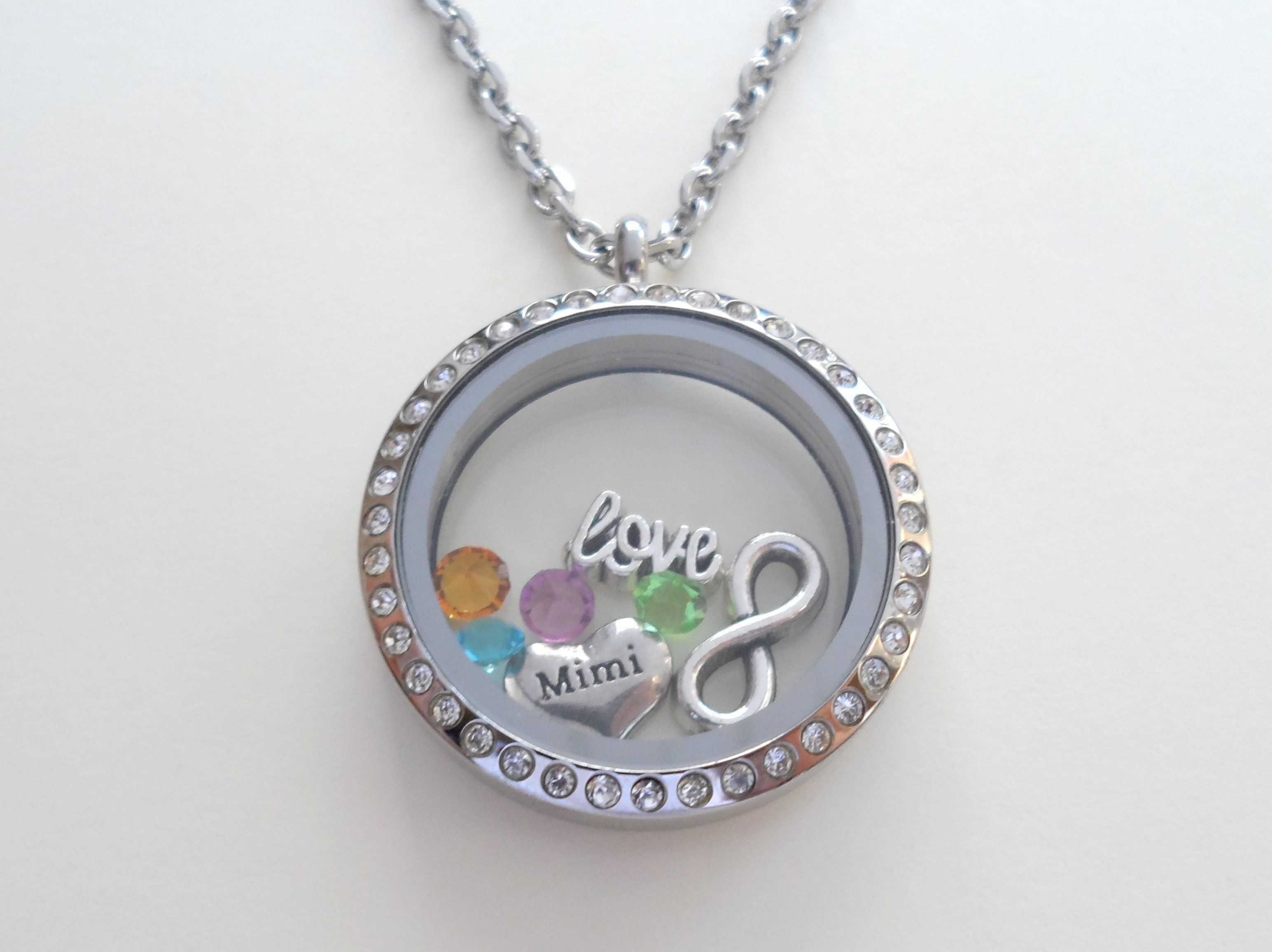 memory lockets shop heart pendant floating with away locket silver diamante shaped