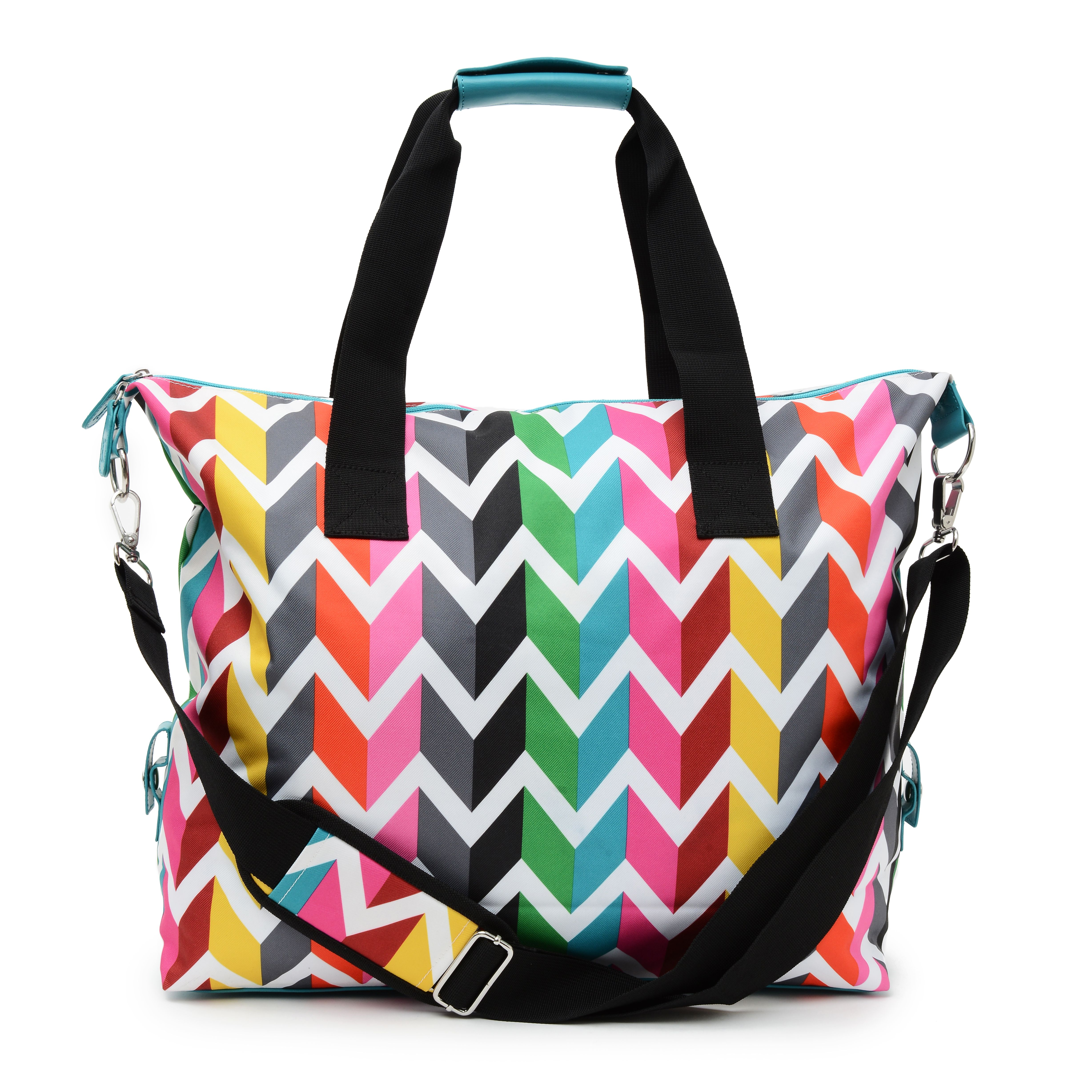 French Bull Weekender Bag Available At Target Vee Graphic And Colorful Chevron Print Perfect For An Overnight Or As Your Vacation Carry On