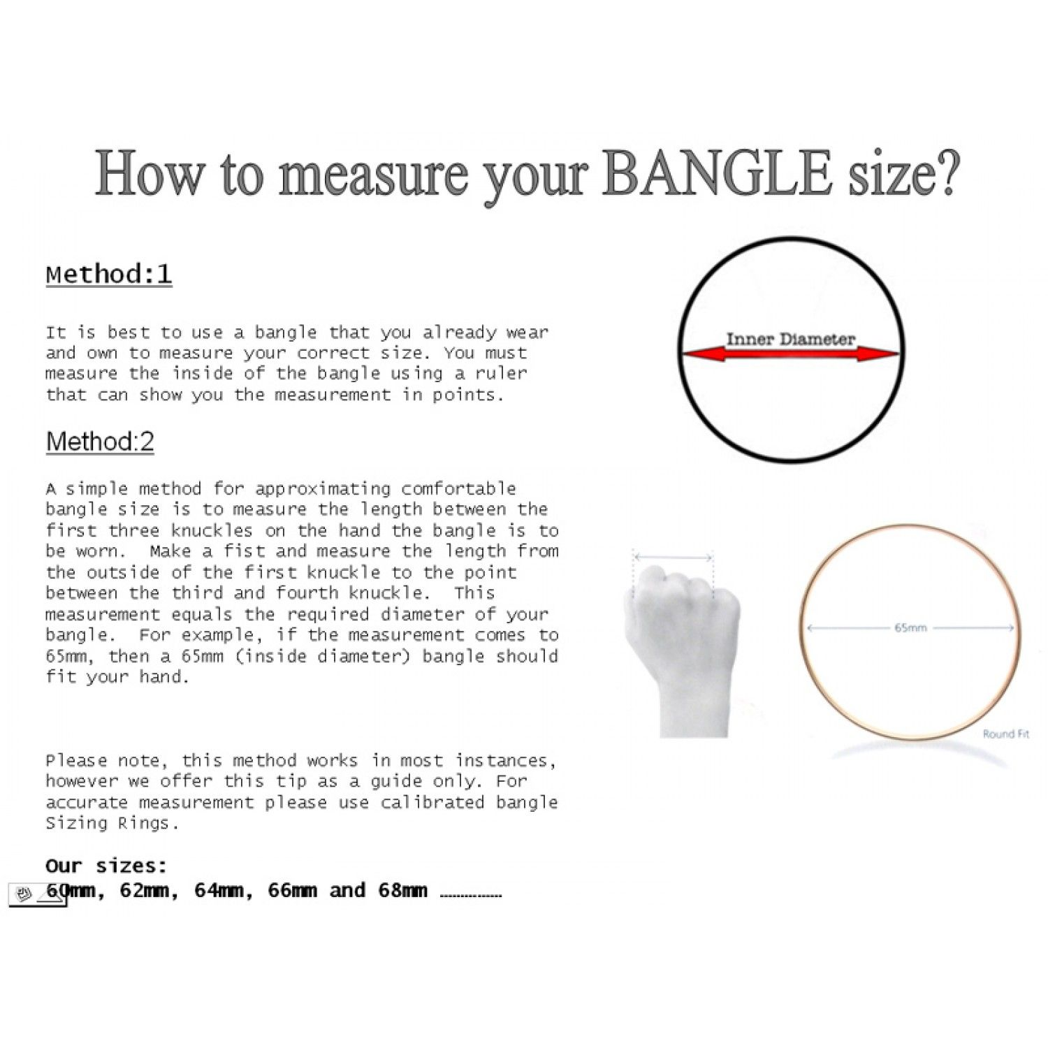 How to measure your bangle size Love Fashion DIY