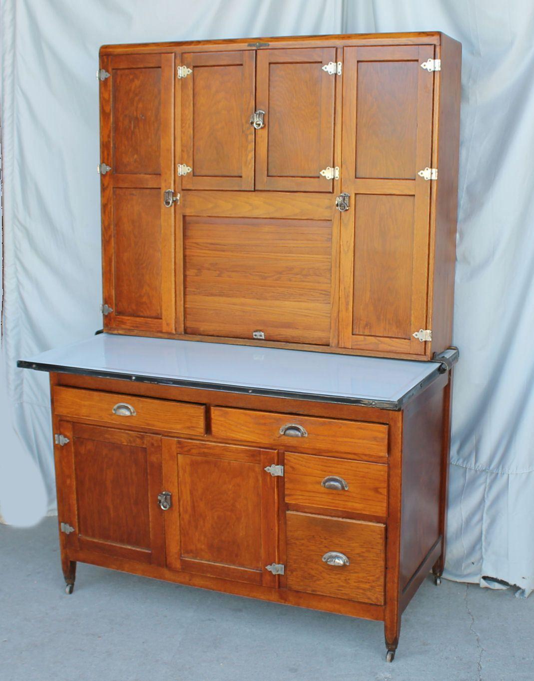 Oak Kitchen Cabinet - Naponee Hoosier Style | eBay | Oak ...