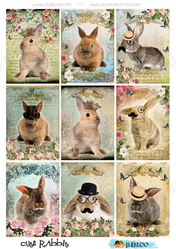 Instant Download  Digital sheets CUTE RABBIT rabbit por JLeeloo, $3.60