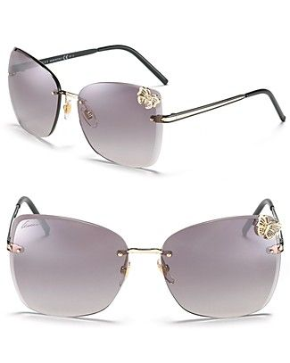 d78a4d5fad9 Gucci Oversized Rimless Butterfly Sunglasses