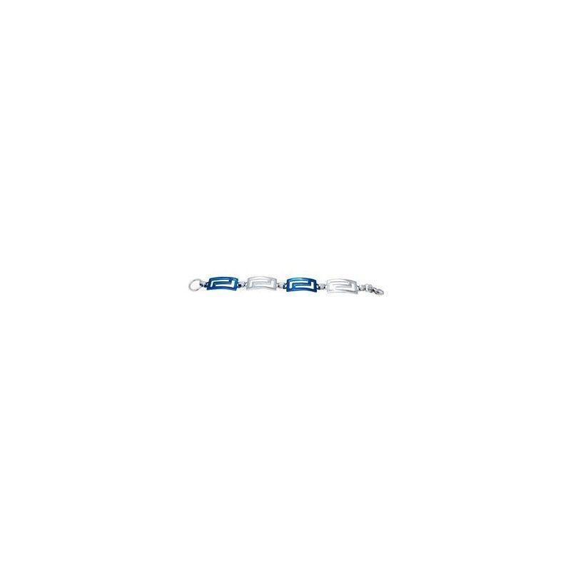 Pulsera de acero bicolor con azul de la marca Lestor