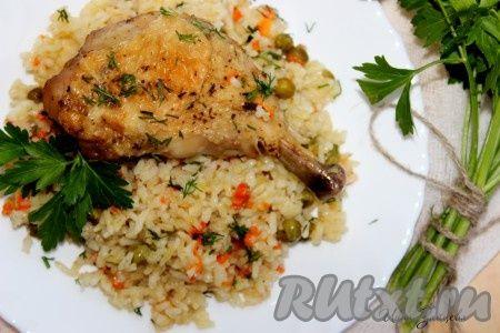 ленивый рис с курицей, приготовленный в духовке