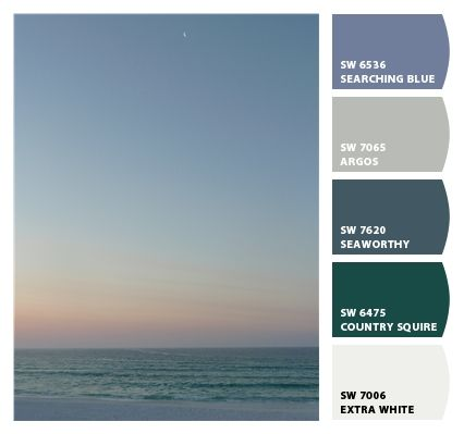 "ocean paint colors. ""let's chip it,"" an online toolsherwin"