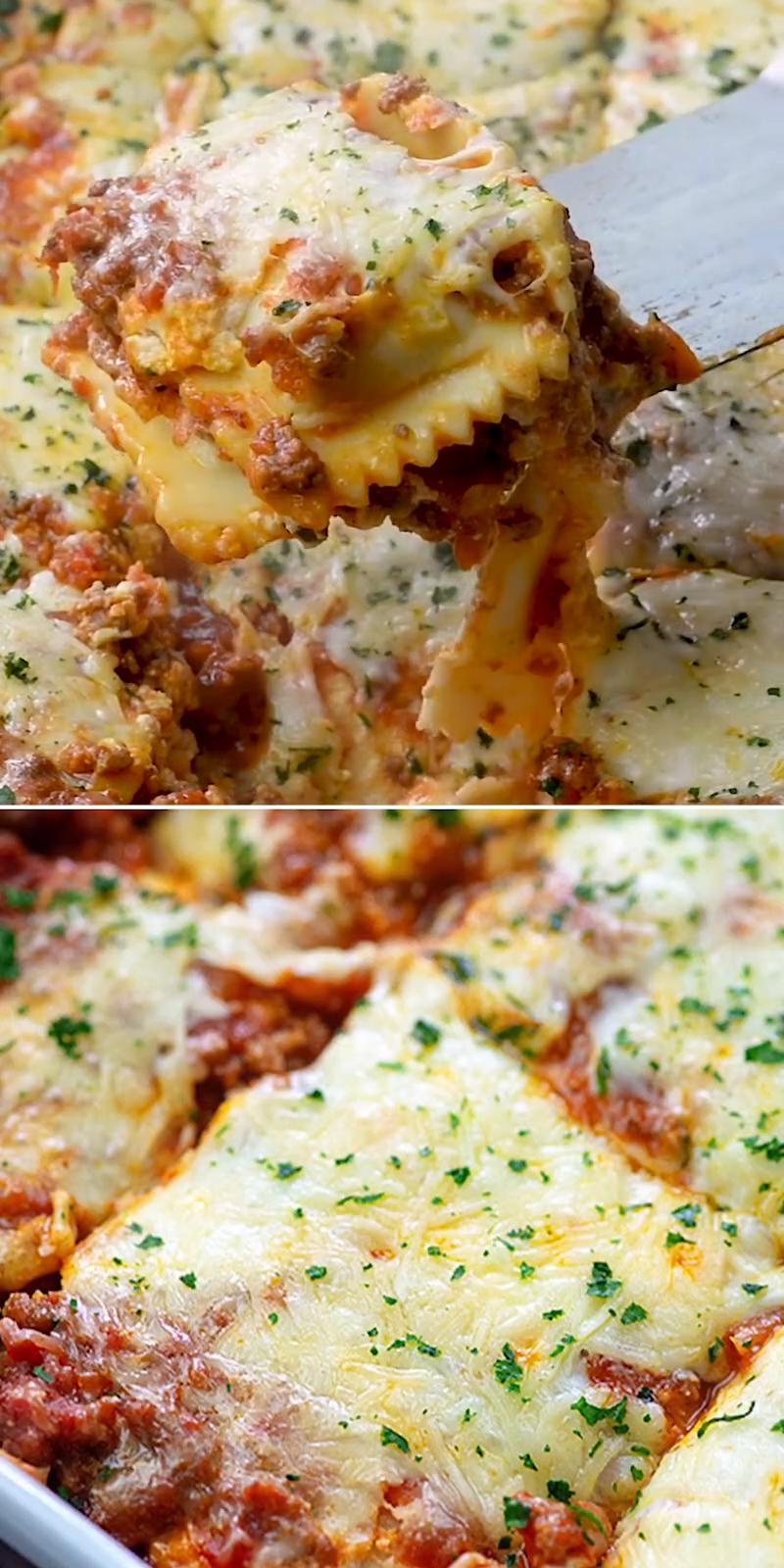 ★★★★★ | RAVIOLI LASAGNA #meals