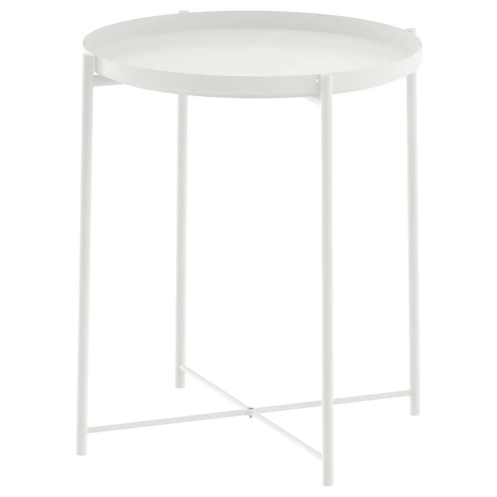 Gladom Stol Servirovochnyj Belyj 45x53 Sm Ikea In 2020 Tabletttisch Gladom Ikea Beistelltisch Weiss